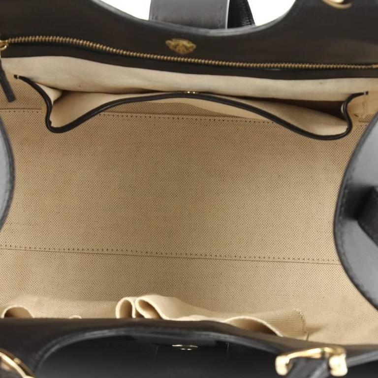 0e48dceb1e8 Gucci Stirrup Top Handle Bag Leather Large at 1stdibs