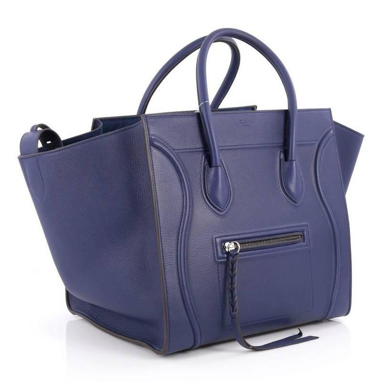 Purple Celine Phantom Handbag Grainy Leather Medium For Sale