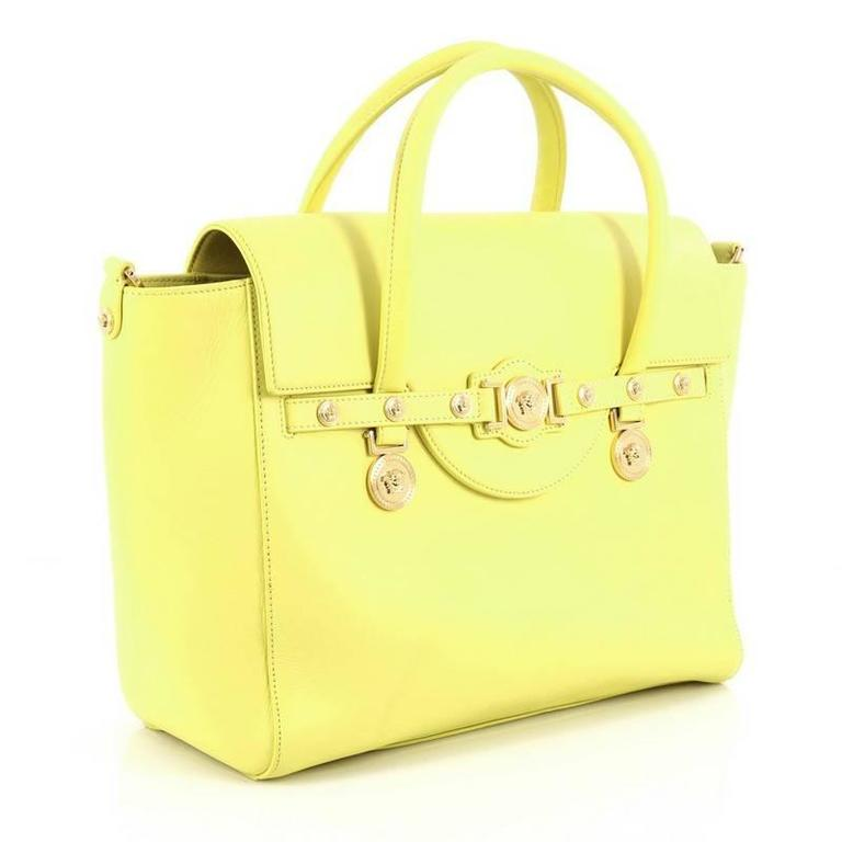 Yellow Versace Signature Bag Leather Large For Sale 853ece4ae8