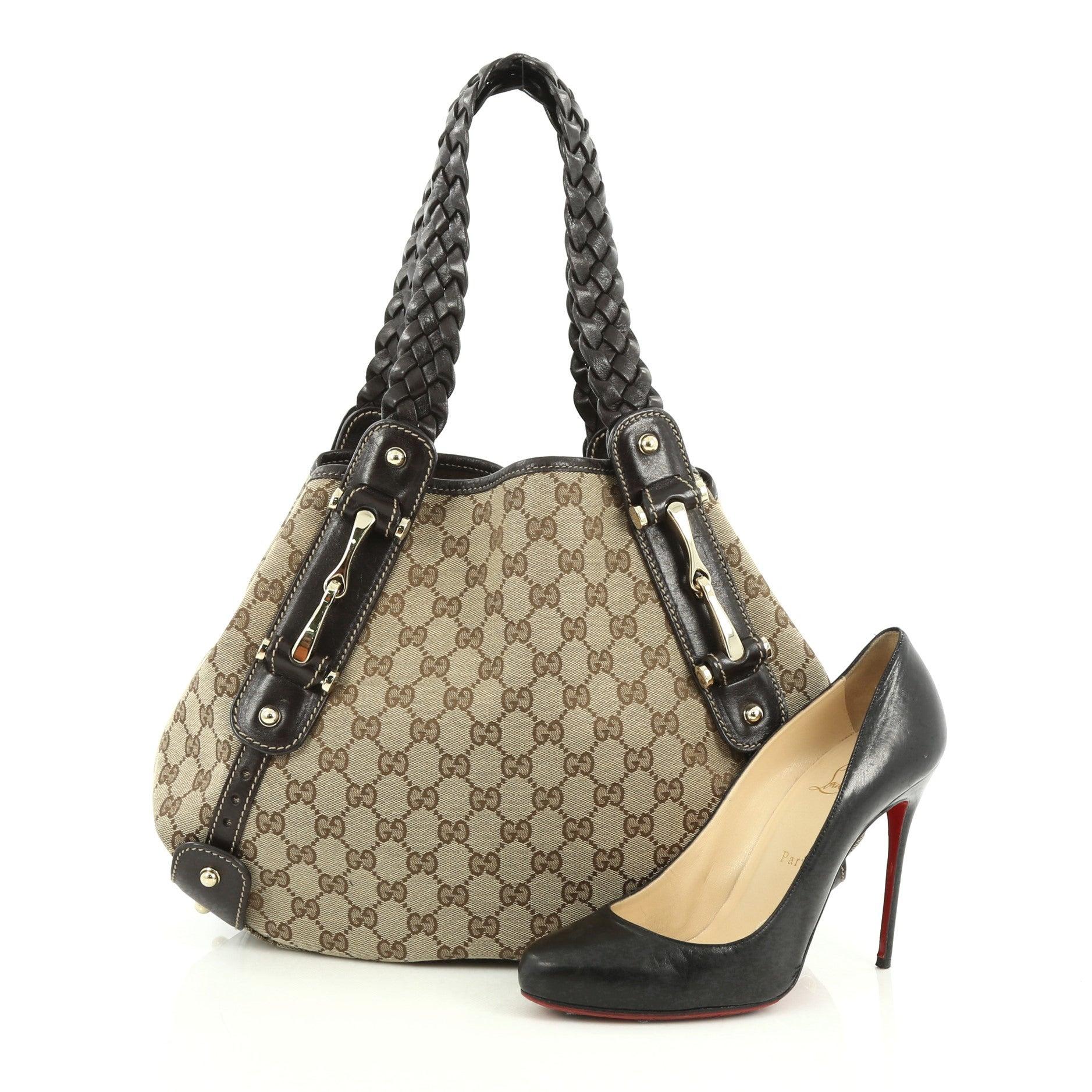 f8741da4173596 Gucci Pelham Shoulder Bag GG Canvas Small at 1stdibs