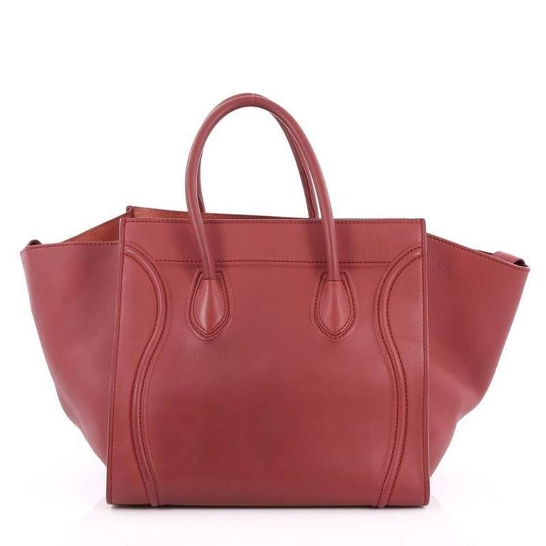 Brown Celine Phantom Handbag Grainy Leather Medium For Sale