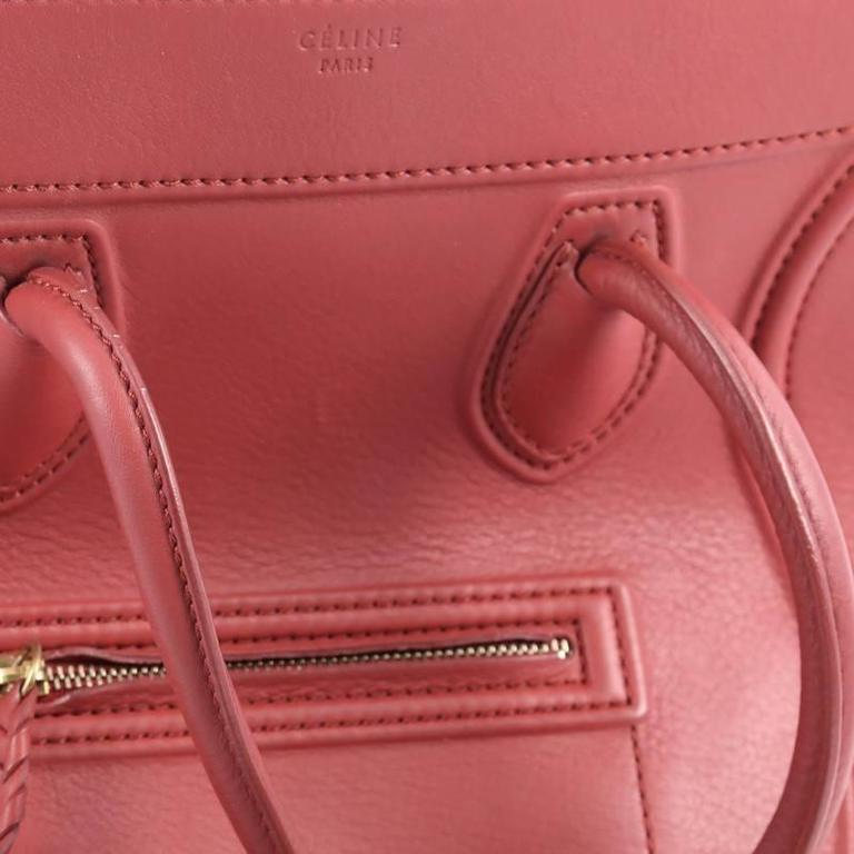 Celine Phantom Handbag Grainy Leather Medium For Sale 2