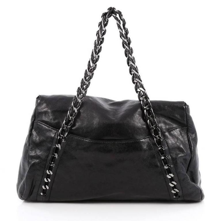 Chanel Modern Chain Zip Flap Tote Caviar Large At 1stdibs