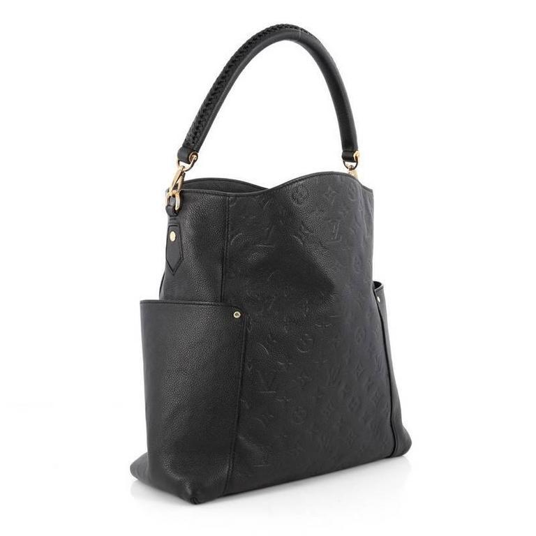 15037685a Black Louis Vuitton Bagatelle Hobo Monogram Empreinte Leather For Sale