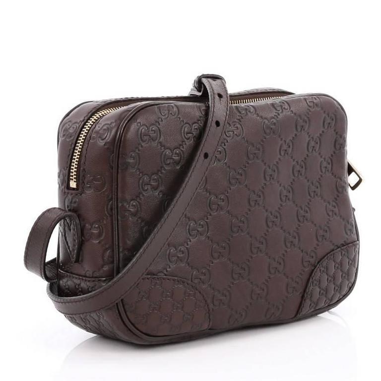 7efc52671f3c Black Gucci Bree Disco Crossbody Bag Guccissima Leather Mini For Sale