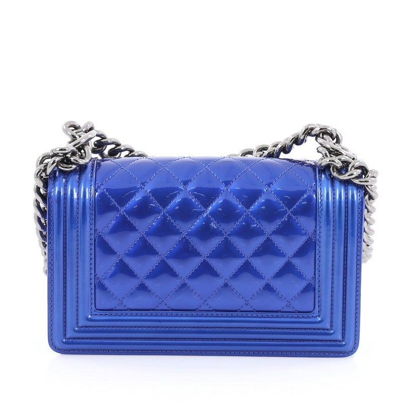 03d572d22c78b5 Chanel Boy Flap Bag Quilted Patent Small at 1stdibs