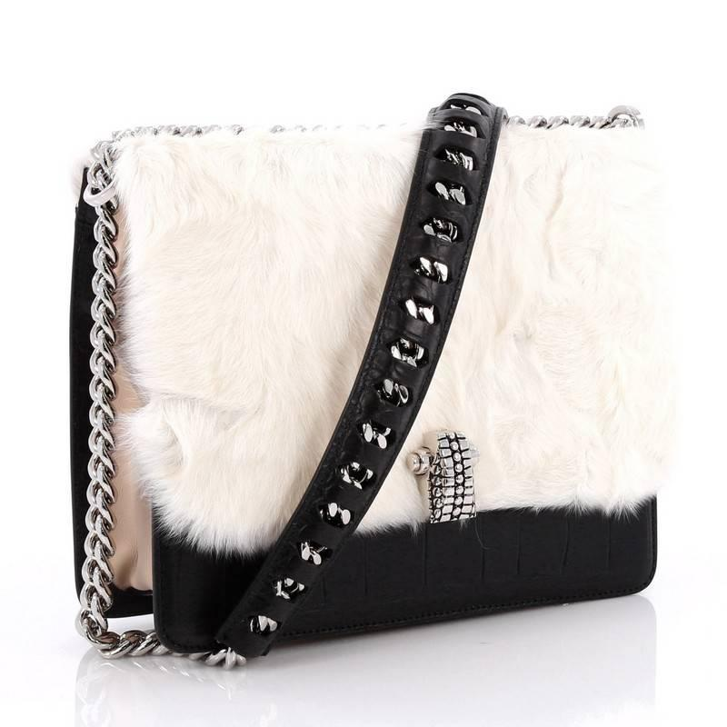Roberto Cavalli White Leather Em... cheap sale fashion Style free shipping low price discount deals clearance outlet locations yE7PW