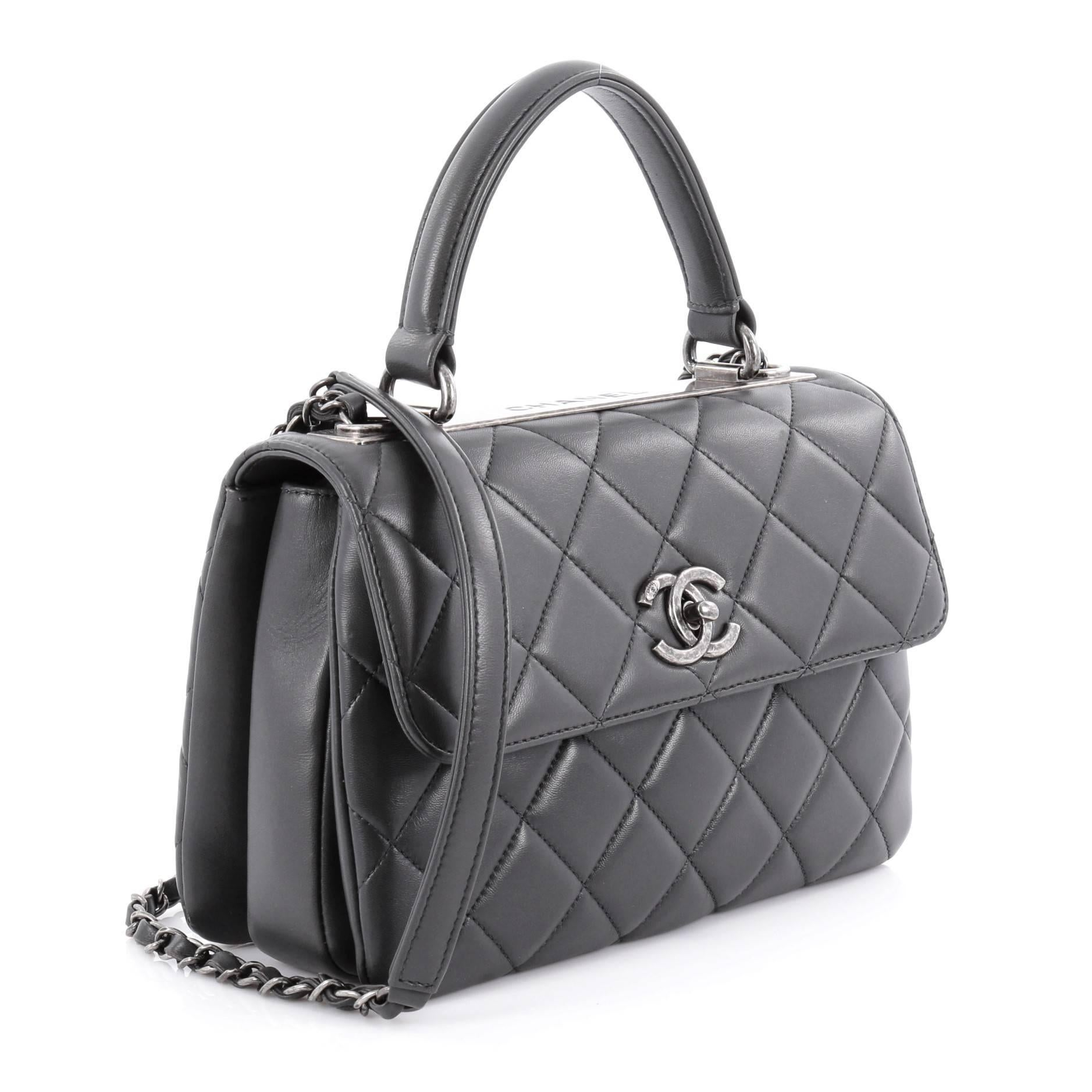 406df33a2f4b Chanel Trendy CC Top Handle Bag Quilted Lambskin Small at 1stdibs