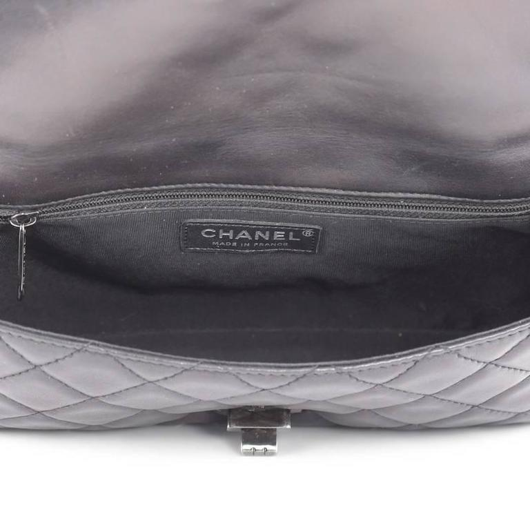 Chanel Reissue Roll Clutch Quilted Lambskin Medium For Sale 1