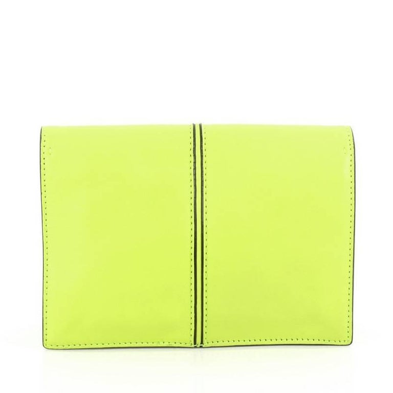 Valentino My Own Code Clutch Leather In Good Condition For Sale In New York, NY