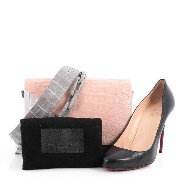 Nancy Gonzalez Origami Flap Bag Crocodile Small 2