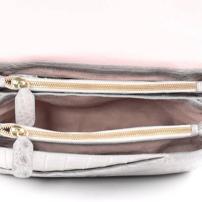 Nancy Gonzalez Origami Flap Bag Crocodile Small 6