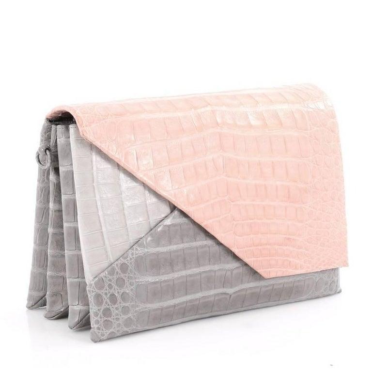 Nancy Gonzalez Origami Flap Bag Crocodile Small 3