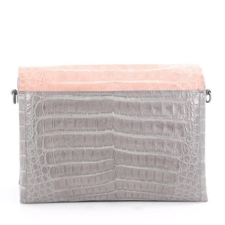 Nancy Gonzalez Origami Flap Bag Crocodile Small 4
