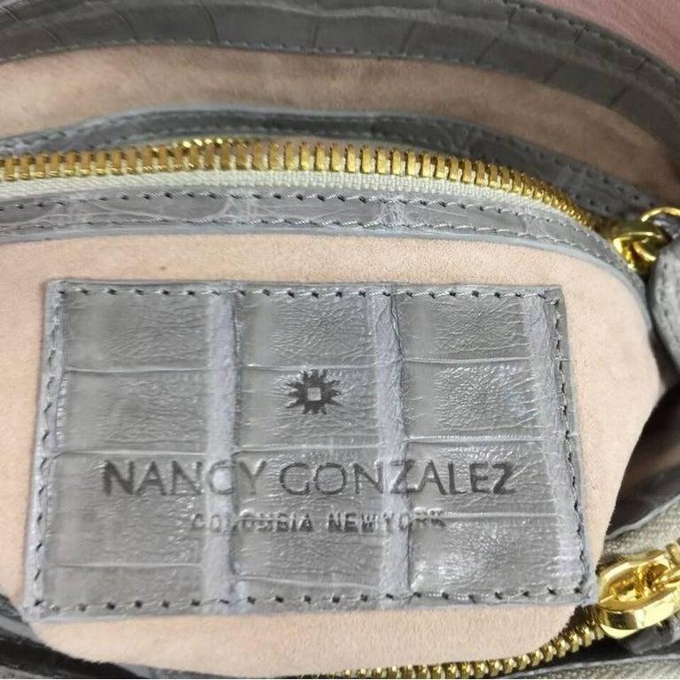 Nancy Gonzalez Origami Flap Bag Crocodile Small 8
