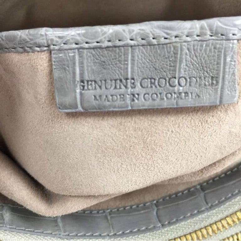 Nancy Gonzalez Origami Flap Bag Crocodile Small 7