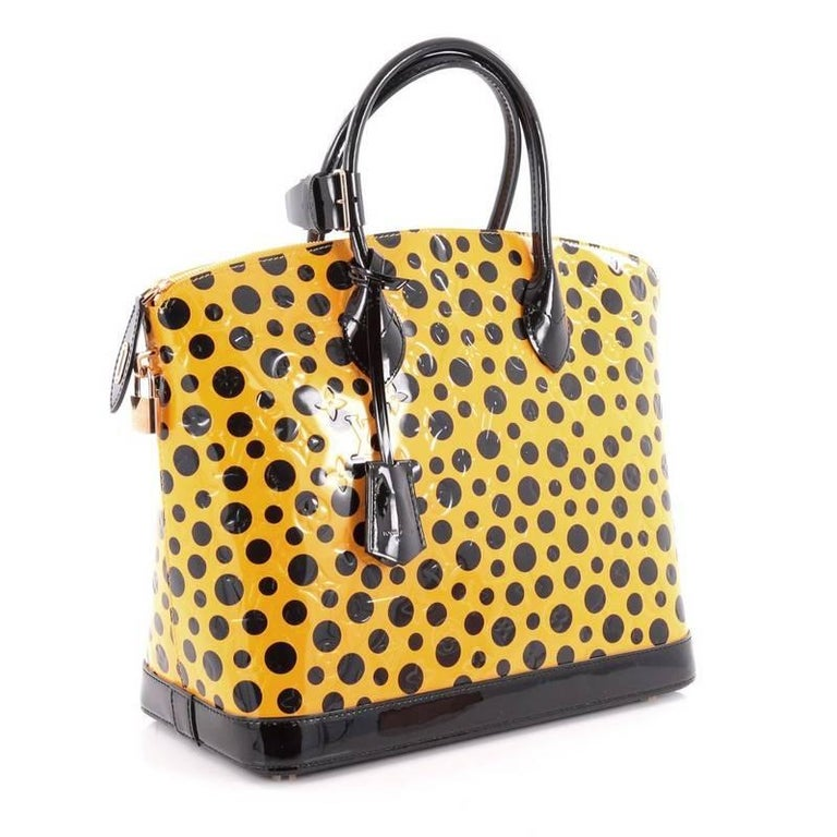Louis Vuitton Lockit Handbag Monogram Vernis Kusama
