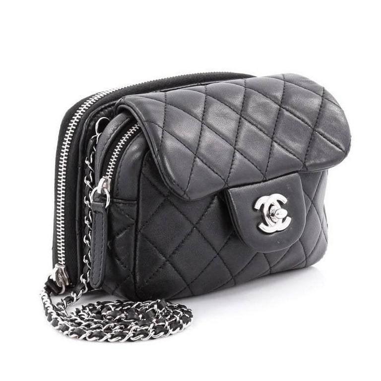 66f632207a0c8a Chanel Wallet On Chain Vs Mini Flap. Chanel Black Lambskin ...