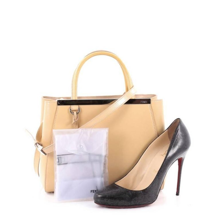 Fendi 2Jours Handbag Patent Petite For Sale at 1stdibs