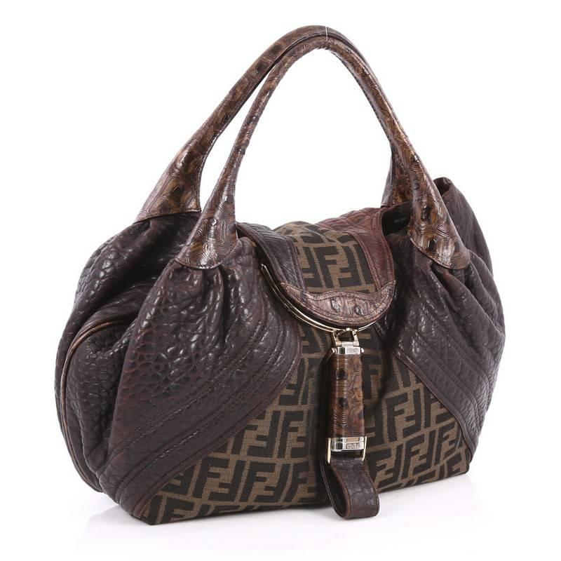 ... order black fendi tortoise spy bag zucca canvas and leather for sale  7f0d8 986bb a9d4935b4737a