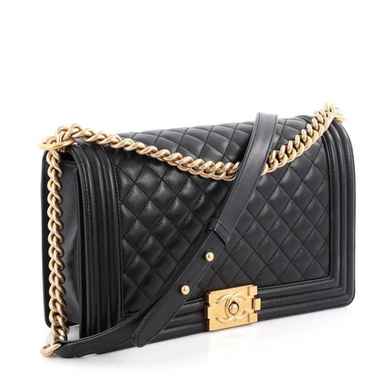 18742042c1f6 Chanel Boy Flap Bag Quilted Calfskin New Medium at 1stdibs