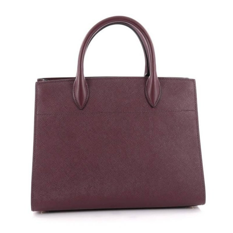 a0ebaf292b09 Prada Grey Medium Bibliotheque Leather Handbag | Stanford Center for ...