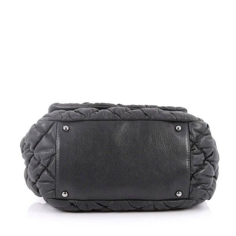 52e364698959c2 Women's Chanel Bubble Accordion Flap Bag Quilted Lambskin Medium For Sale