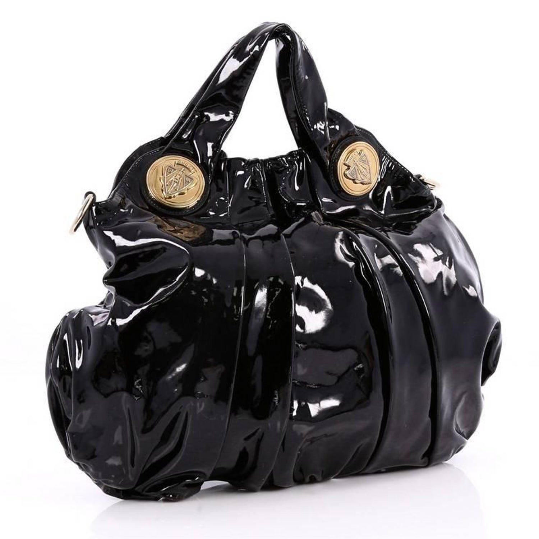 32fbd3c0188 Gucci Hysteria Convertible Top Handle Bag Patent Large at 1stdibs