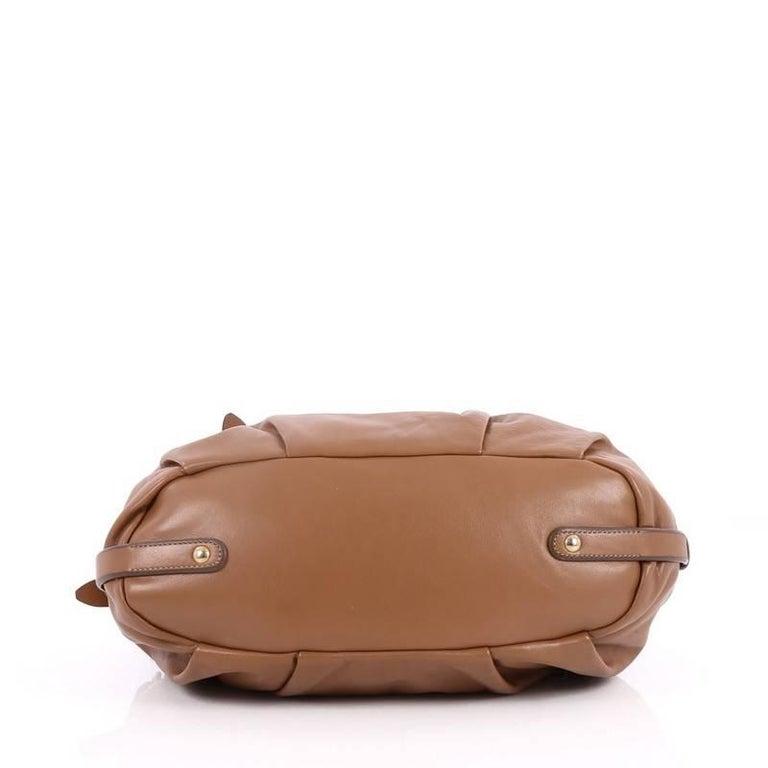 Women's Prada Convertible Belted Satchel Cervo Antik Leather Medium