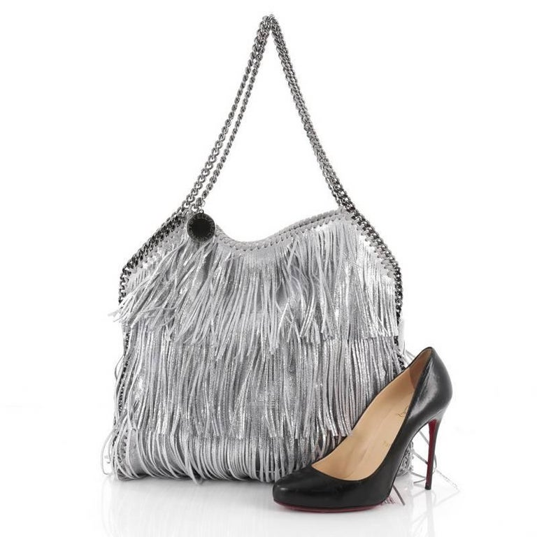 This authentic Stella McCartney Falabella Fringe Tote Faux Leather Small is  perfect for casual day- 264e9a4a1954c