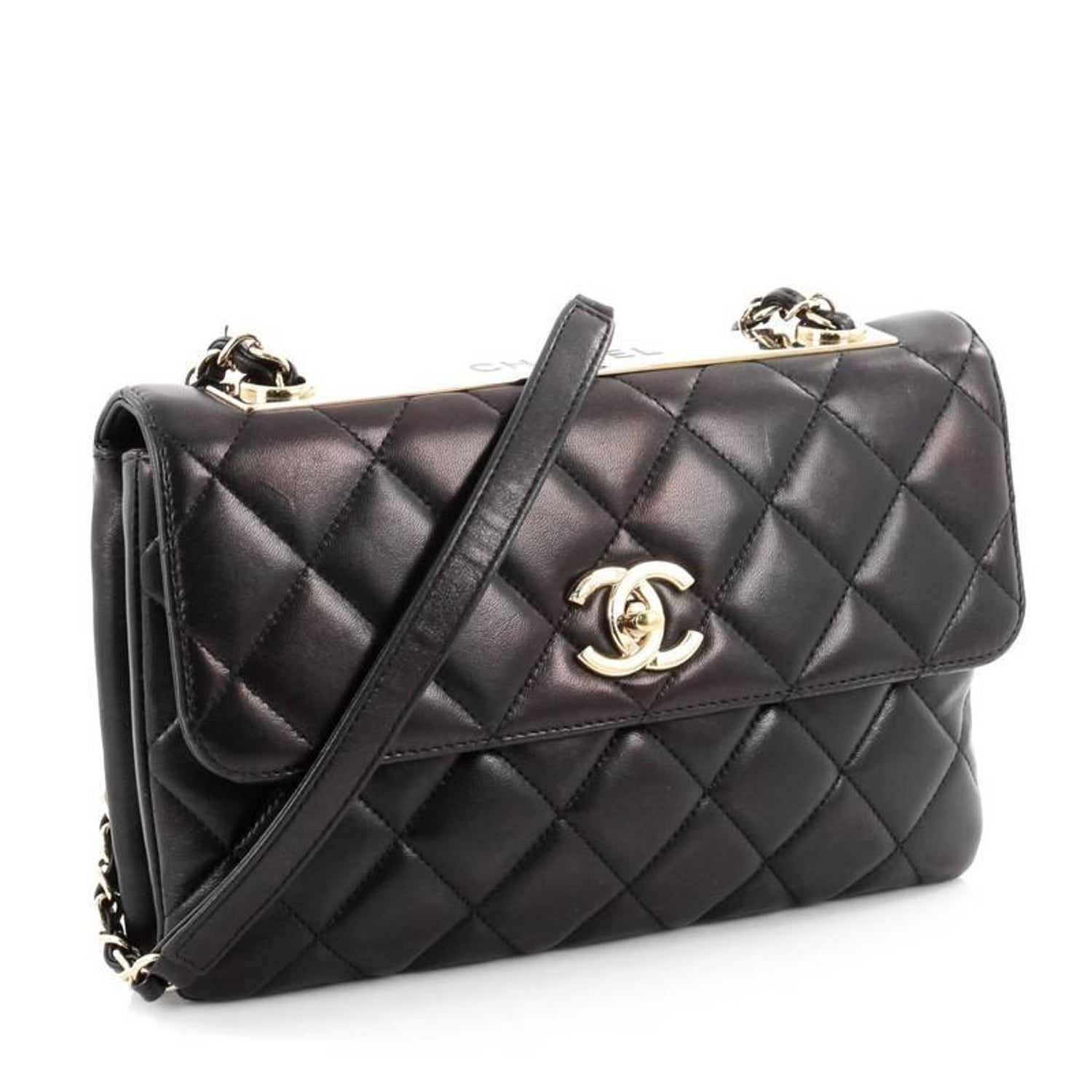 3b2f0a540b65 Chanel Trendy CC Flap Bag Quilted Lambskin Medium at 1stdibs