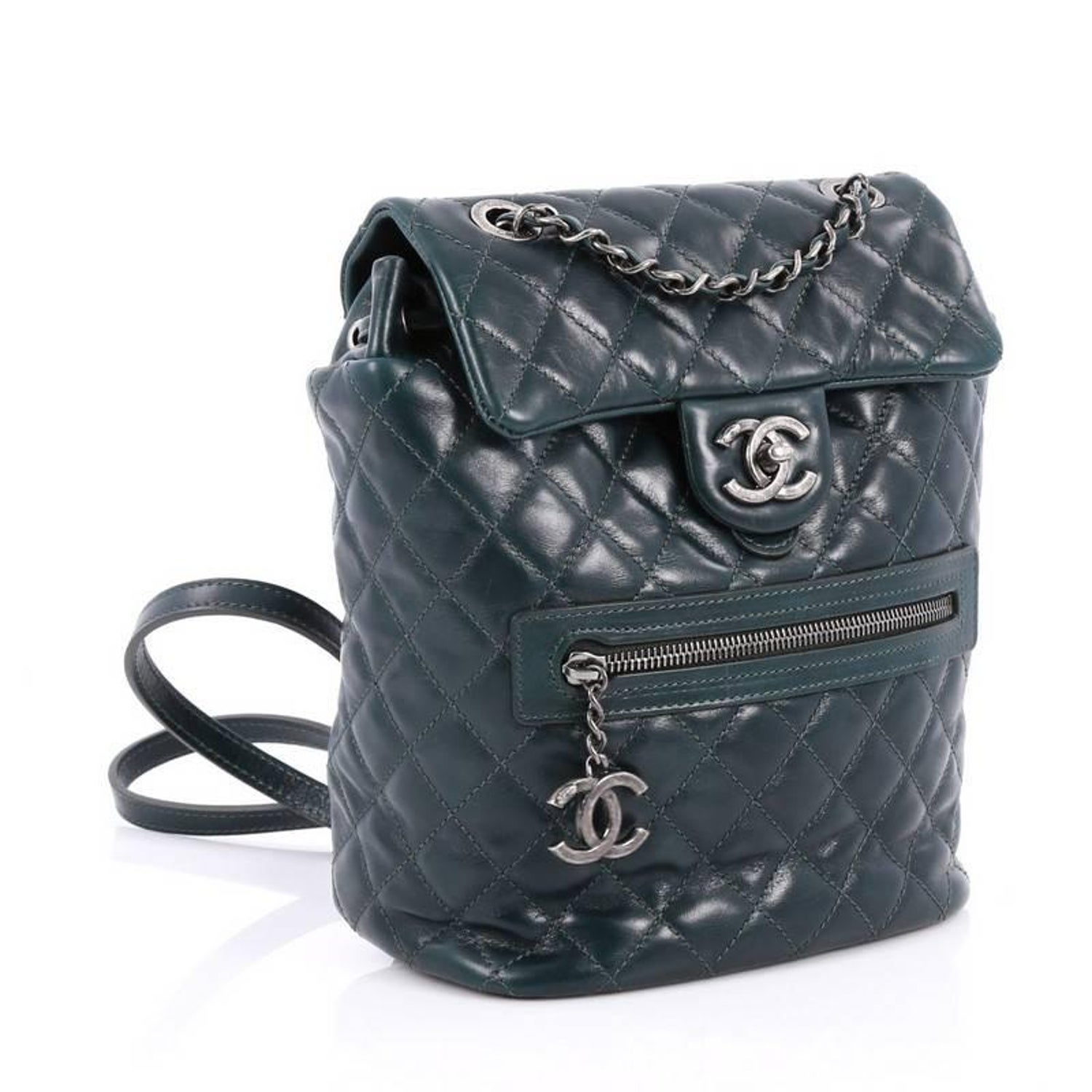 ff41a0e66262 Chanel Mountain Backpack Quilted Glazed Calfskin Small at 1stdibs