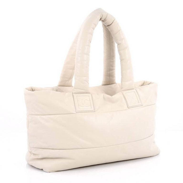 c23001250a68 Beige Chanel Coco Cocoon Reversible Tote Quilted Lambskin Medium For Sale