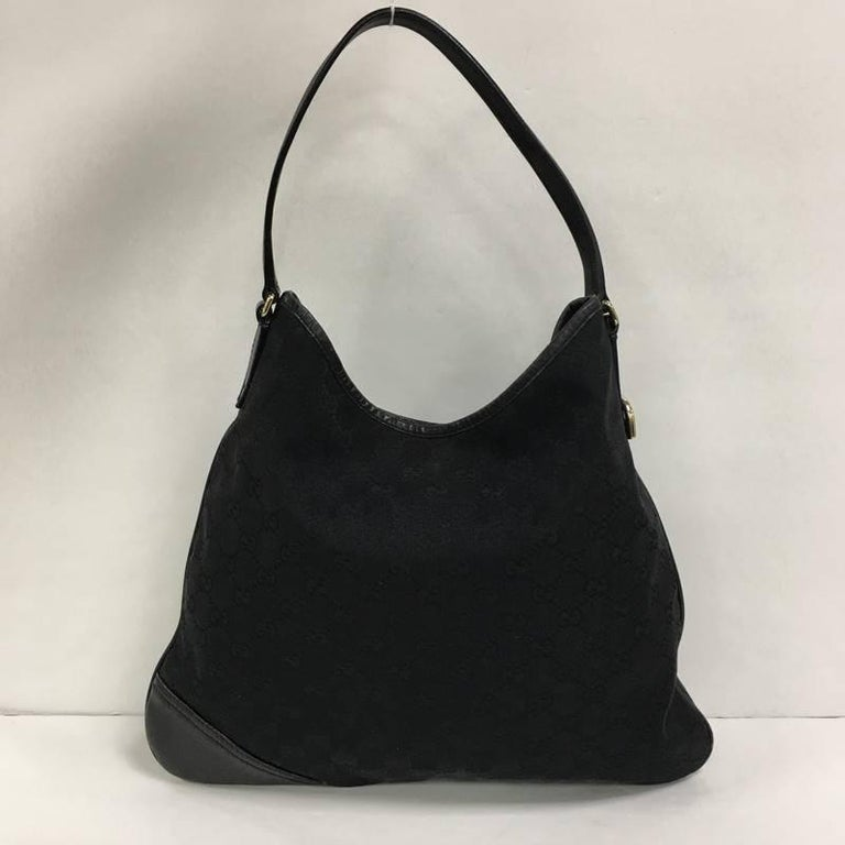 4f5dbf883c9 Black Gucci New Britt Hobo GG Canvas Medium For Sale