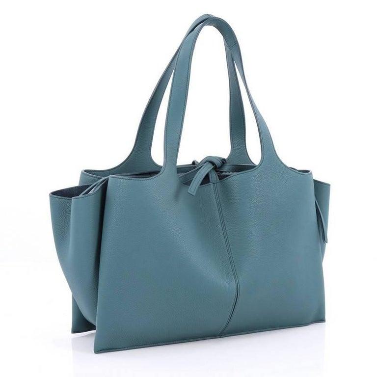 Celine Tri-Fold Shoulder Bag Grained Calfskin Medium at ...
