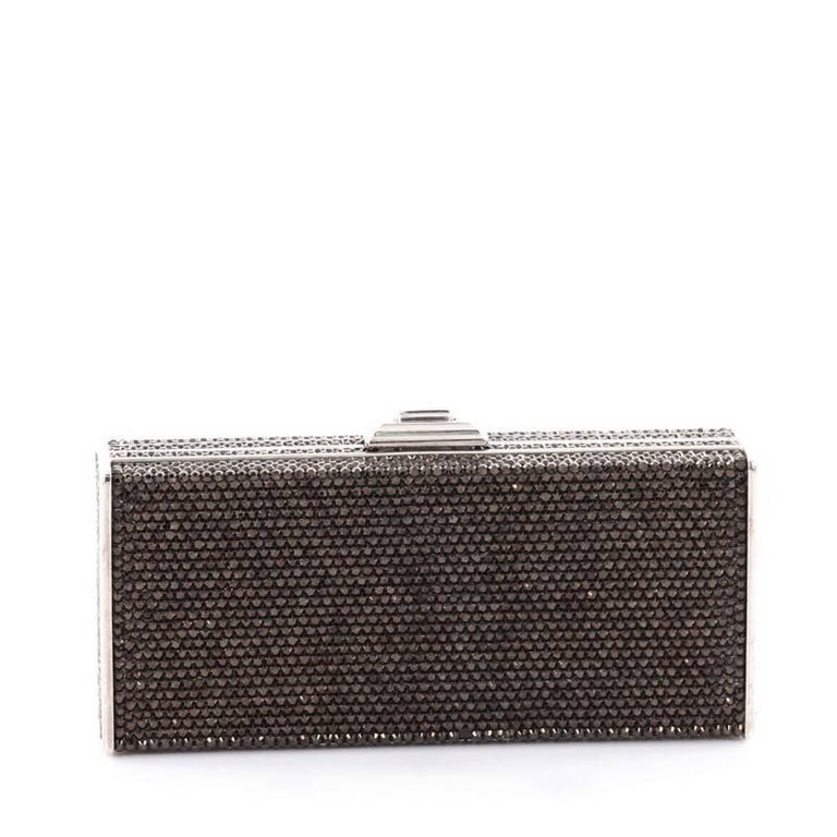 Judith Leiber Minaudiere Crystal Long In Good Condition For Sale In New York, NY