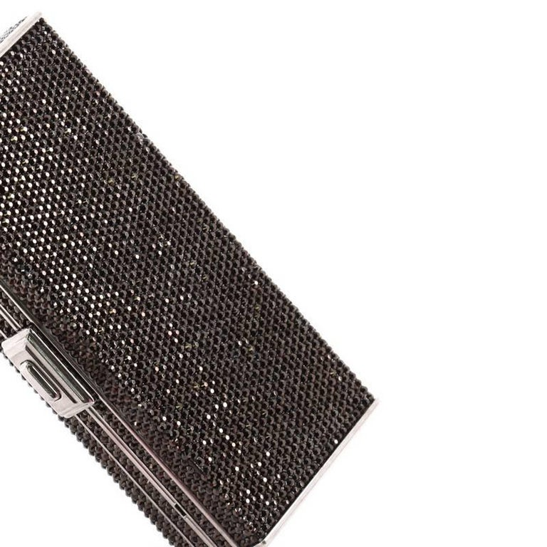 Judith Leiber Minaudiere Crystal Long For Sale 1
