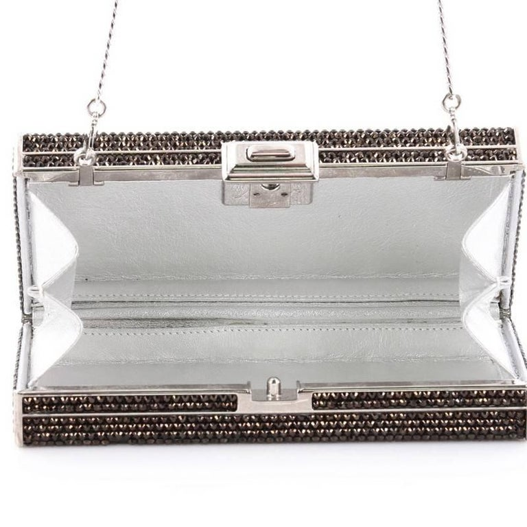Judith Leiber Minaudiere Crystal Long For Sale 2