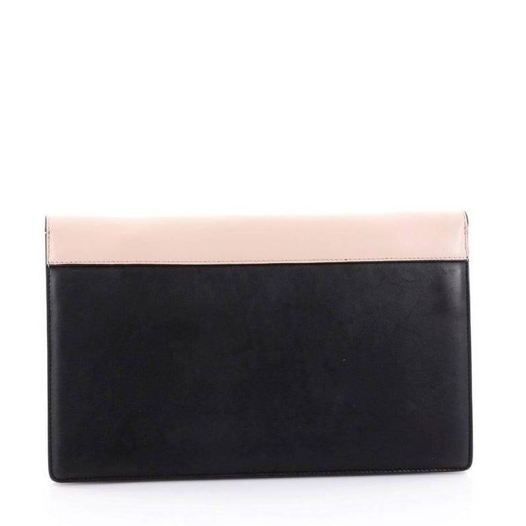 a74154cd23 Celine Diamond Clutch Pony Hair and Leather Medium In Good Condition For  Sale In New York