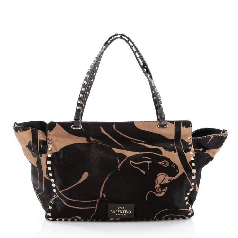 Valentino Rockstud Tote Calf Hair Medium 4