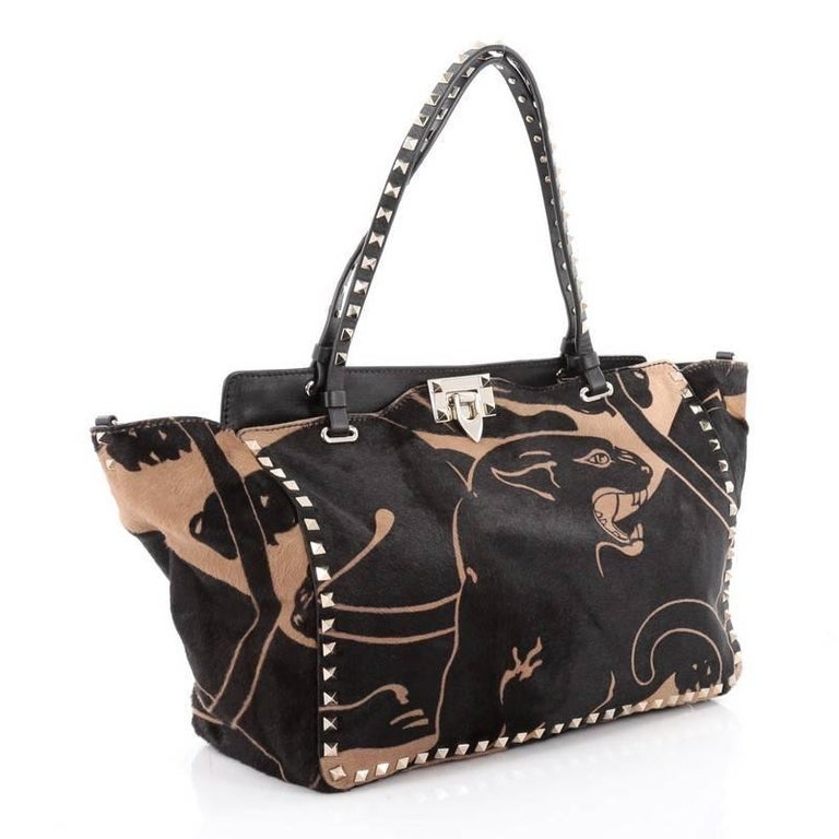 Valentino Rockstud Tote Calf Hair Medium 3