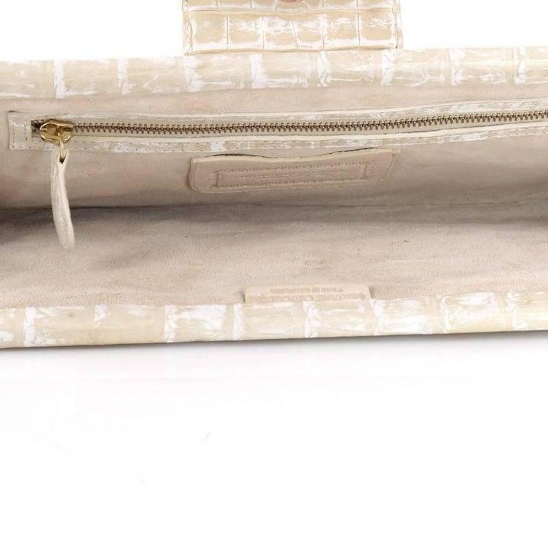 Nancy Gonzalez Frame Clutch Crocodile Long For Sale 1