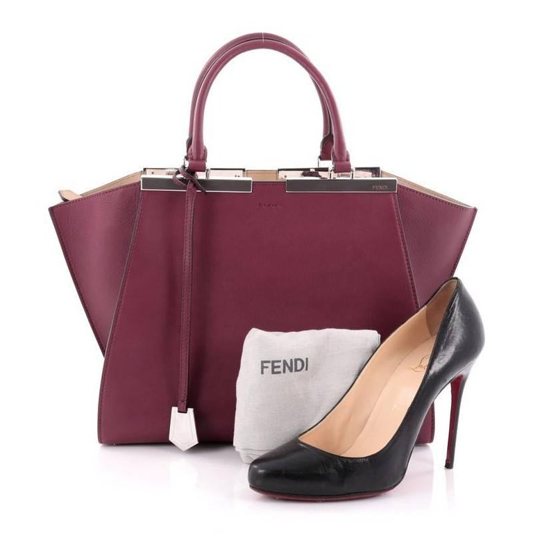 Fendi Petite 3jours Handbag Leather For Sale At 1stdibs