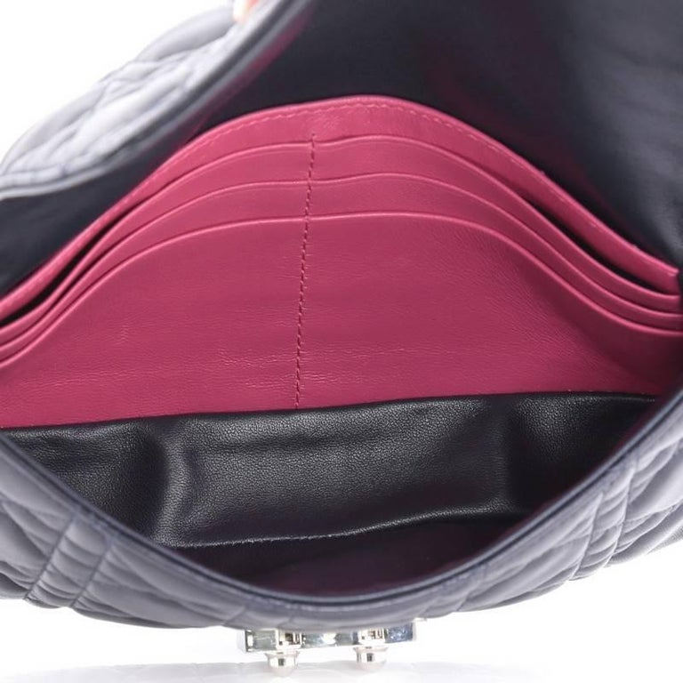 Christian Dior Miss Dior Promenade Pouch Cannage Quilt Lambskin Large For Sale 1