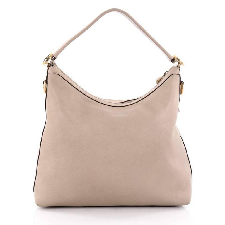 32b2bb80edda3c Gucci Miss GG Hobo Leather Small In Good Condition For Sale In New York, NY