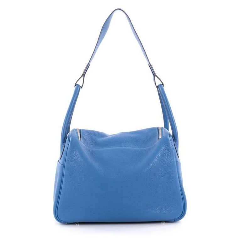Hermes Lindy Handbag Clemence 30 In Good Condition For Sale In New York, NY