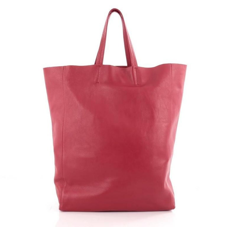 Celine Vertical Cabas Tote Leather Large In Good Condition For Sale In New York, NY
