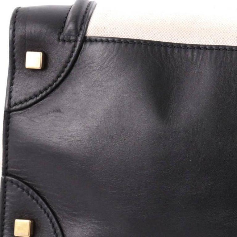 Celine Luggage Handbag Canvas And Leather Mini For 1