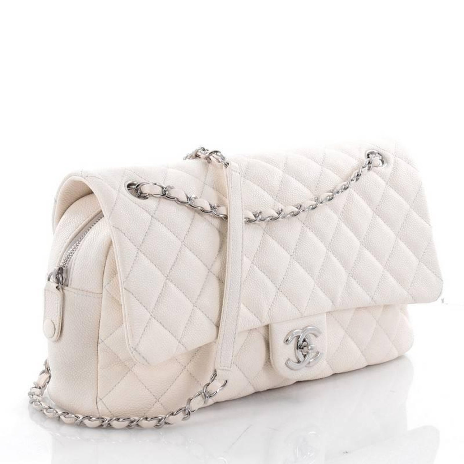 d5a42ea9447c Chanel Easy Flap Bag Quilted Caviar Jumbo at 1stdibs