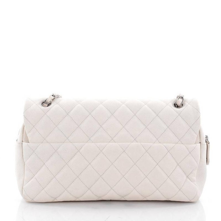 588eab5bc263 Chanel Easy Flap Bag Quilted Caviar Jumbo In Good Condition For Sale In New  York,